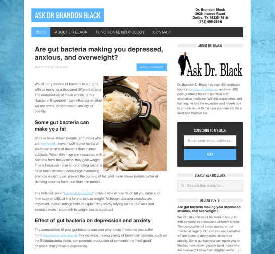 Ask Doctor Black Website