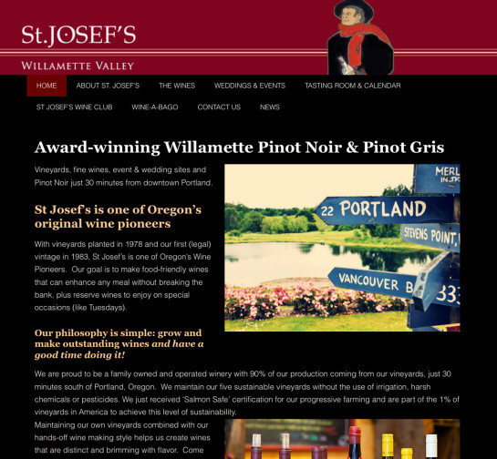 St Josefs Winery Website
