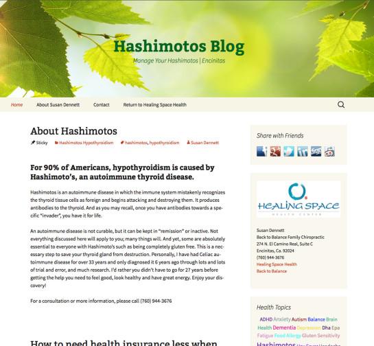Hashimotos Blog Website