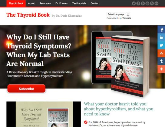 Dr Kharrazian's Thyroid Book Website